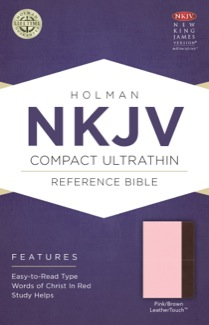NKJV Compact Ultrathin Bible, Pink/Brown LeatherTouch