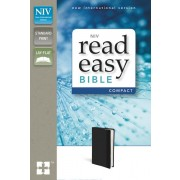 NIV, ReadEasy Bible, Compact, Imitation Leather, Black, Red Letter Edition
