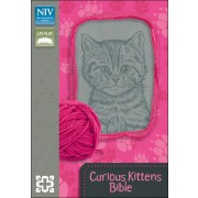 NIV, Curious Kittens Bible, Imitation Leather, Pink/Gray, Red Letter