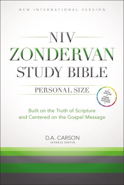 NIV Zondervan Study Bible, Personal Size, Hardcover: Built on the Truth of Scripture and Centered on the Gospel Message *Scratch & Dent*