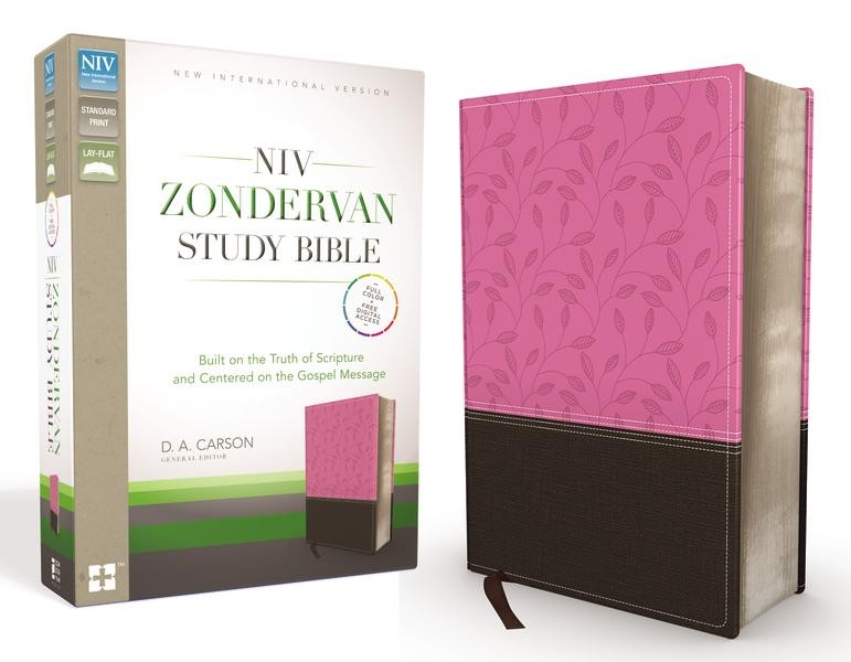 NIV Zondervan Study Bible, Imitation Leather, Pink/Brown: Built on the Truth of Scripture and Centered on the Gospel Message