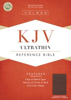KJV Ultrathin Reference Bible, Chocolate LeatherTouch Indexed