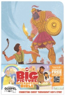The Big Picture Interactive Bible for Kids, David and Goliath Edition LeatherTouch: Connecting Christ Throughout God's Story (The Gospel Project) *Scratch & Dent*