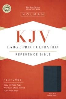 KJV Large Print Ultrathin Reference Bible, Slate Blue LeatherTouch *Scratch & Dent*
