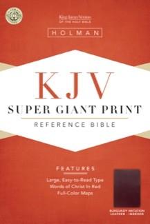 KJV Super Giant Print Reference Bible, Burgundy Simulated Leather Indexed (King James Version) *Scratch & Dent*