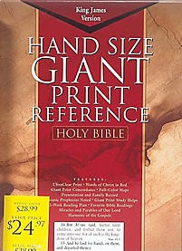 KJV Giant Print Reference Bible, Blue Imitation Leather Indexed (King James Version)