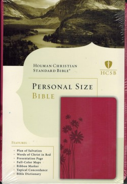 Holman Christian Standard Bible HCSB Personal Size Simulated Leather Pink Floral Pattern