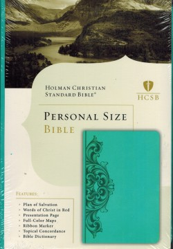 HCSB Classic Personal Size Teal Filigree