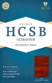 HCSB Ultrathin Reference Bible, Brown LeatherTouch Indexed