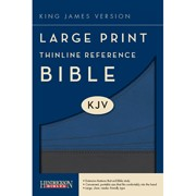 The Holy Bible: King James Version, Slate/ Blue Flexisoft, Thinline Reference Bible