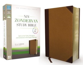 NIV Zondervan Study Bible, Imitation Leather, Tan/Brown: Built on the Truth of Scripture and Centered on the Gospel Message