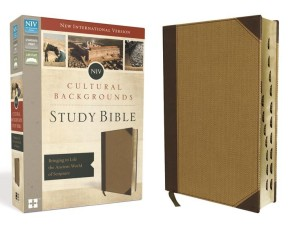 NIV, Cultural Backgrounds Study Bible, Leathersoft, Tan, Red Letter, Thumb Indexed