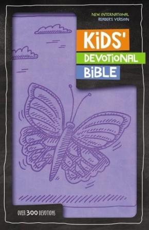 NIrV Kids' Devotional Bible, Imitation Leather, Lavender: Over 300 Devotions