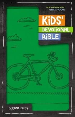 NIrV Kids' Devotional Bible, Imitation Leather, Green: Over 300 Devotions
