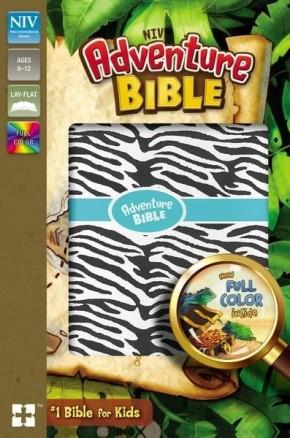 NIV Adventure Bible, Imitation Leather, Zebra Print, Full Color Interior