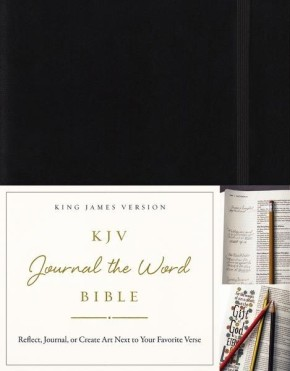 KJV, Journal the Word Bible, Hardcover, Black, Red Letter Edition: Reflect, Journal, or Create Art Next to Your Favorite Verses *Scratch & Dent*