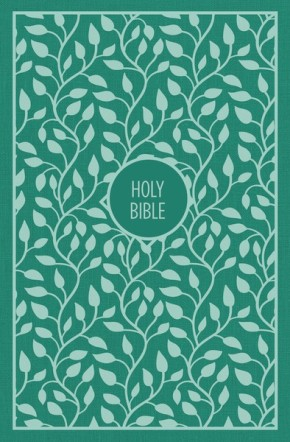 KJV, Thinline Bible, Large Print, Cloth over Board, Green, Red Letter Edition, Comfort Print