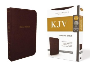 KJV, Thinline Bible, Standard Print, Imitation Leather, Burgundy, Red Letter Edition, Comfort Print