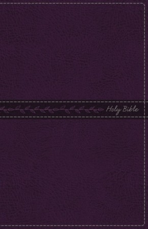 KJV, Thinline Bible, Standard Print, Leathersoft, Purple, Red Letter Edition, Comfort Print