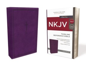 NKJV, Thinline Reference Bible, Leathersoft, Purple, Red Letter Edition, Comfort Print: Holy Bible, New King James Version