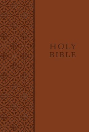 KJV Study Bible, Personal Size, Leathersoft, Brown, Red Letter Edition (Signature)