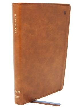 NET Bible, Thinline Large Print, Leathersoft, Brown, Comfort Print: Holy Bible