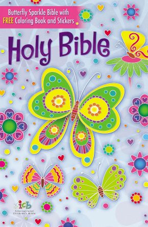 The ICB, Butterfly Sparkle Bible, Hardcover: International Children's Bible *Scratch & Dent*