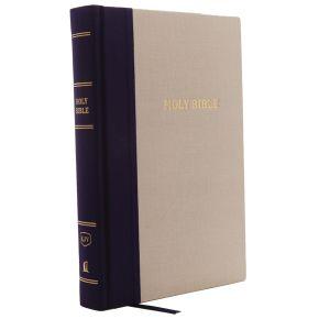 KJV, Reference Bible, Center-Column Giant Print, Cloth over Board, Blue/Tan, Red Letter, Comfort Print: Holy Bible, King James Version