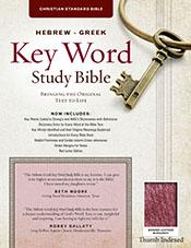 The Hebrew-Greek Key Word Study Bible: CSB Edition, Burgundy Bonded Indexed (Key Word Study Bibles)