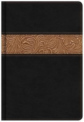 NKJV Reader's Bible, Black/Brown Tooled LeatherTouch