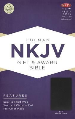 NKJV Gift & Award Bible, Black Imitation Leather *Scratch & Dent*