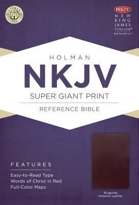 NKJV Super Giant Print Reference Bible, Burgundy Imitation Leather