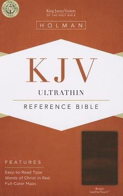 KJV Ultrathin Reference Bible, Brown LeatherTouch *Scratch & Dent*