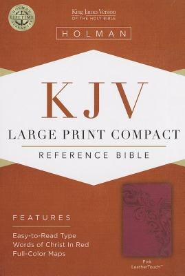 KJV Large Print Compact Reference Bible, Pink LeatherTouch *Scratch & Dent*