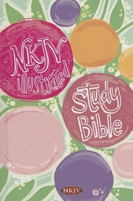 Illustrated Study Bible for Kids-NKJV-Girls *Scratch & Dent*