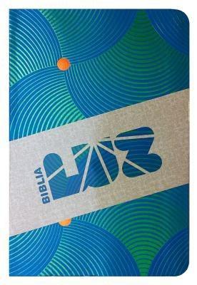 RVC Biblia Luz, remolinos de azul/verde simil piel (Spanish Edition)