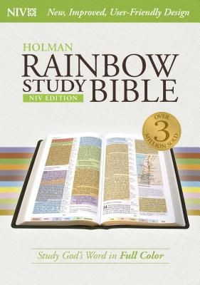 NIV Rainbow Study Bible, Jacketed Hardcover *Scratch & Dent*