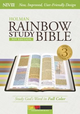 NIV Rainbow Study Bible, Kaleidoscope Black LeatherTouch Indexed