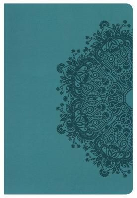 KJV Large Print Personal Size Reference Bible, Teal LeatherTouch, Indexed