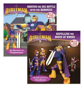 Braving the Big Battle with the Baroness / Repelling the Ronin of Wrong, Flip-Over Book (Bibleman)