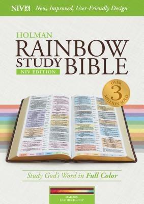 NIV Rainbow Study Bible, Maroon LeatherTouch, Indexed