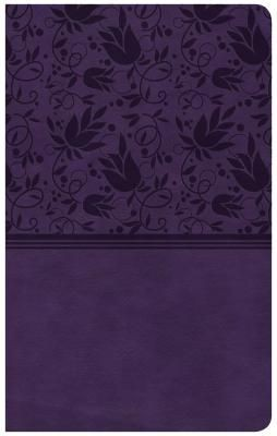 CSB Compact Ultrathin Bible, Purple LeatherTouch, Indexed