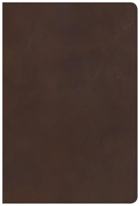 KJV Giant Print Reference Bible, Brown Genuine Leather
