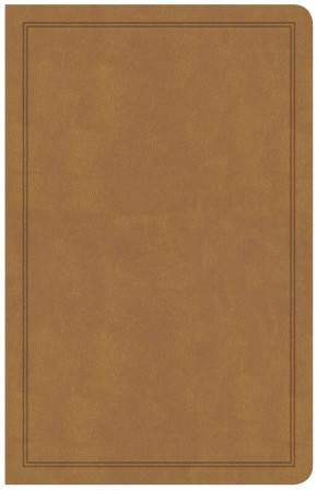 CSB Deluxe Gift Bible, Tan LeatherTouch