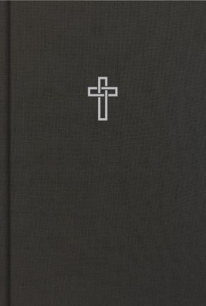 CSB Large Print Ultrathin Reference Bible, Charcoal Cloth-Over- Board, Black Letter ED