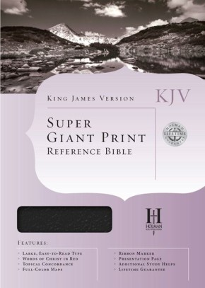 KJV Super Giant Print Reference Bible, Black Imitation Leather Indexed (King James Version)