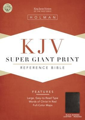 KJV Super Giant Print Reference Bible, Black Bonded Leather Indexed (King James Version)