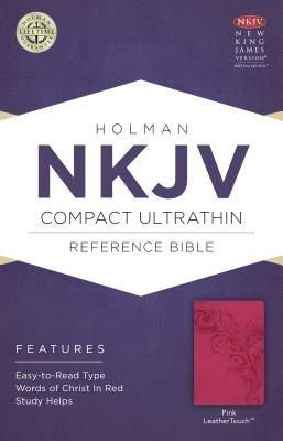 NKJV Compact Ultrathin Bible, Pink LeatherTouch