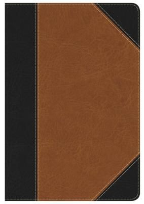 KJV Study Bible Personal Size, Black/Tan LeatherTouch