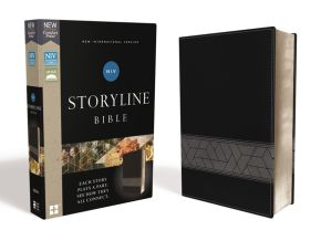 NIV, Storyline Bible, Leathersoft, Black, Comfort Print: Each Story Plays a Part. See How They All Connect.